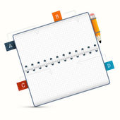 Vector Paper Notebook Illustration on White Background — Vecteur