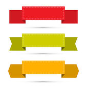 Retro Ribbons, Labels, Tags Set Isolated on White Background  — Stock vektor