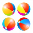 Colorful Vector Beach Balls Set Isolated on White Background — Stock Vector