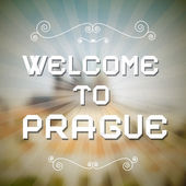 Welcome to Prague Paper Title — Stock Vector