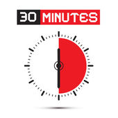 Thirty Minutes Stop Watch - Clock Vector Illustration — Stok Vektör