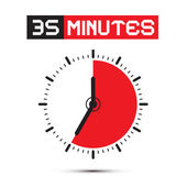 Thirty Five Minutes Stop Watch - Clock Vector Illustration — Stock Vector