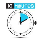 Ten Minutes Stop Watch - Clock Vector Illustration — Stock Vector