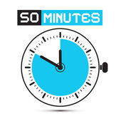 Fifty Minutes Stop Watch - Clock Vector Illustration — Wektor stockowy