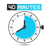 Forty Minutes Watch - Clock Vector Illustration — Stock Vector