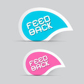Paper Feedback Icons Illustration Isolated on Grey Background — Stock Vector