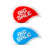 Paper Big Sale Icons Illustration Isolated on White Background — Stock Vector