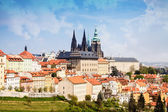 Spring Prague Castle Photo - The Cathedral of St Vitus - Czech Republic - Europe — Stock Photo