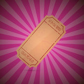 Empty Ticket Illustration on Retro Pink Background — Vetorial Stock