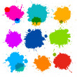 Colorful Transparent Vector Stains, Blots, Splashes Set — Stock Vector
