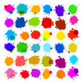 Colorful Vector Splashes - Blot, Stains Set — Stock Vector
