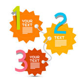 Three Steps Paper Vector Infographics Layout — Stock vektor