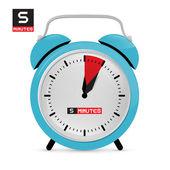 Five 5 Minutes Alarm Clock Vector Illustration — Stock Vector