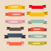 Retro Ribbons, Labels, Tags Set Illustration — Stock Vector