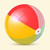 炫彩复古矢量沙滩球图 — 图库矢量图片