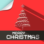 Merry Christmas Flat Design Paper Background — Stock Vector