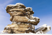 Winter Landscape View on Rocks with Blue Sky  — Stockfoto