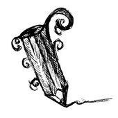 Hand Drawn Pencil Vector Illustration — 图库矢量图片