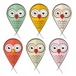 Owls Set Illustration Isolated on White Background — Stock Vector