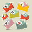 Vector Envelopes - E-mail Icons Set — Stock Vector #48264485