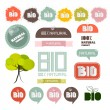 Bio - Natural Product Green Labels - Tags - Stickers Set — Stock Vector #48265145