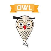 Abstract Vector Owl Illustration — Stock Vector