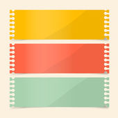 Perforated Papers Set Vector Illustration — Vettoriale Stock