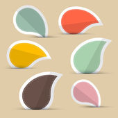 Paper Stickers - Labels in Retro Color Design — Vector de stock