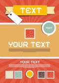 Brochure lay-out - retro poster vector sjabloon — Stockvector