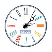 Retro Abstract Clock Face Illustration — Stock Vector