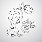 Cogs - Gears Vector Illustration — Stock Vector