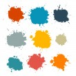 Colorful Retro Vector Stains, Blots, Splashes Set — Stock Vector #49027905
