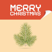 Merry Christmas Template Vector Illustration with Branch — Stock Vector
