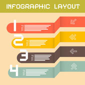 Vector Paper Infographics Layout - Template — Stock Vector
