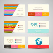 Vector Paper Business Cards Template Set on Grey Background — Vector de stock