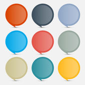 Colorful Empty Circle Stickers - Labels Set on Grey Background — Stok Vektör