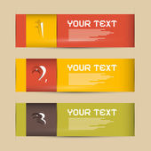 One, Two, Three Vector Paper Progress Steps for Tutorial, Infographics  — Vettoriale Stock