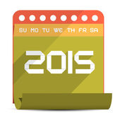 2015 Vector Paper Calendar Illustration — Stock Vector