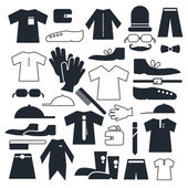 Clothes - Fashion Vector Flat Icons — Stock Vector