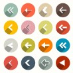 Vector Flat Design Arrows Set in Circles — Stock Vector #49630247