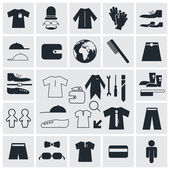 Clothes - Fashion Vector Square Flat Icons — Stok Vektör