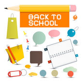 Vector Back to School Objects — Stock Vector