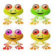 Red-eyed Tree Frog Vector Illustration — Stock Vector #50936449