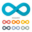 Colorful Paper Vector Infinity Symbols Set Isolated on White Background — Stock Vector #50937025