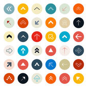 Retro Arrows Set in Circles - Vector Illustration — Vetorial Stock