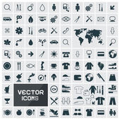 Vector Square Flat Icons Set — Stock Vector