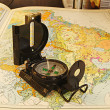 Compass and map. — Stock Photo #37639673