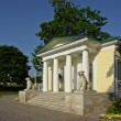Porch summer pavilion in royal residence Kolomenskoye. — Stock Photo