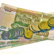 Stock Photo: Banknotes and coins of RussiFederation.