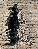 Brick wall of a building with an opening. — 图库照片